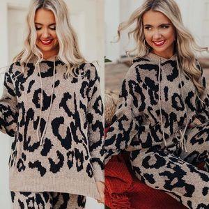 🚨24 HOUR SALE🚨Weekend Fit Leopard Print Hoodie